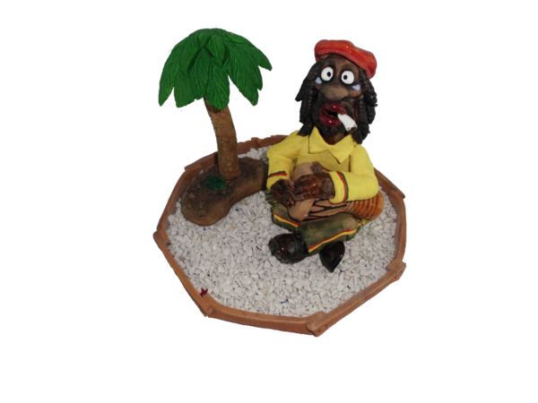 Räucherfigur-Set Rasta King Bongo