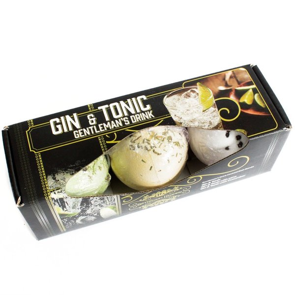 Cocktail-Badebomben 3er-Packung Gin Tonic-Badebomben